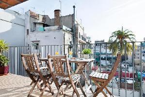 554607) Apartamento En El Centro De Barcelona Con Aire Acondicionado, Ascensor, Terraza, Lavadora