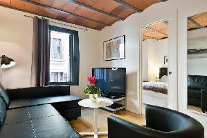 554609) Apartamento En El Centro De Barcelona Con Aire Acondicionado, Ascensor, Lavadora