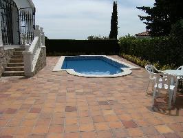 334854) Villa En El Centro De Perelló-mar Con Piscina, Aire Acondicionado, Aparcamiento, Jardín