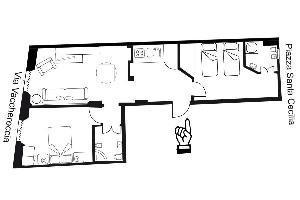 553517) Apartamento En El Centro De Florencia Con Aire Acondicionado, Ascensor, Lavadora
