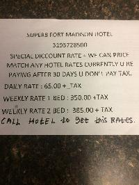 Hotel Super 8 Fort Madison Ia